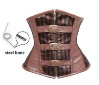 New Cool Brown Cowgirl Underbust Corset Free Shipping 3S3207 Steampunk Corset Sexy Corsets And Bustier