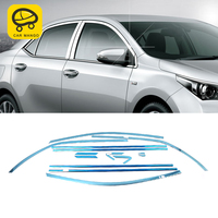 CarManGo For Toyota Corolla 2014 Car Styling Gate Door Window Cover Frame Trim Sticker Exterior Accessories