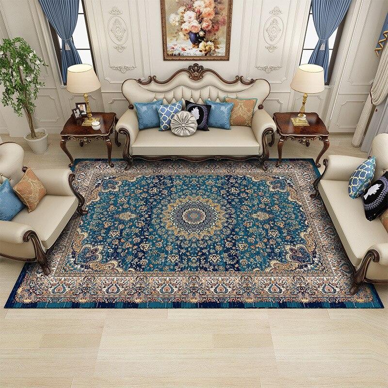 160X230 CM iranien persan tapis Style européen salon canapé Table Pad maison chambre pleine boutique chambre chevet couverture