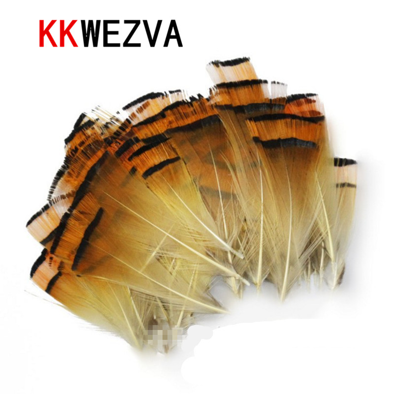 KKWEZVA 50pcs Cambo Turkey Marabou Blood Feathers Fly Fishing Tying Material Lure Making/ Imitate Insect Hooks Pesca
