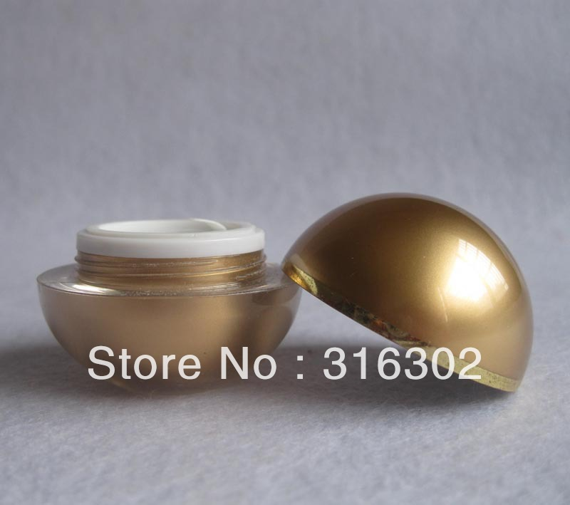 DIY 15g acrylic cream jar, 15ml  gold cream bottle, cosmetic container, cosmetic packaging 200pcs x 200g big frosted abs plastic cosmetic packaging bath salt jar with wooden spoon