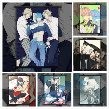 DRAMAtical Murder BL Seragaki Aoba x Noiz Koujaku Anime manga wall Poster Scroll C недорого
