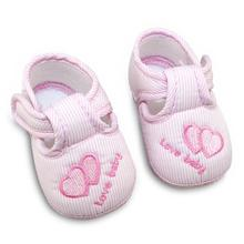 Cotton Lovely Baby Shoes Toddler Unisex Soft Sole Skid-proof 0-12 Months Kids Infant Shoes New cute lovely baby shoes toddler first walkers cotton soft sole skid proof kids infant shoes