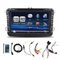 Hot Sale 2 DIN Car DVD GPS for VW JETTA GOLF MK5 MK6 GTI PASSAT B6 POLO SKODA Fabia GPS Navigation Radio USB/SD PC country map