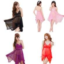 pijama Women Sexy Lace Bow Underwear Temptation Babydoll Racy Sleepwear  Dress Set pyjamas womens gecelik shein 632e82e608