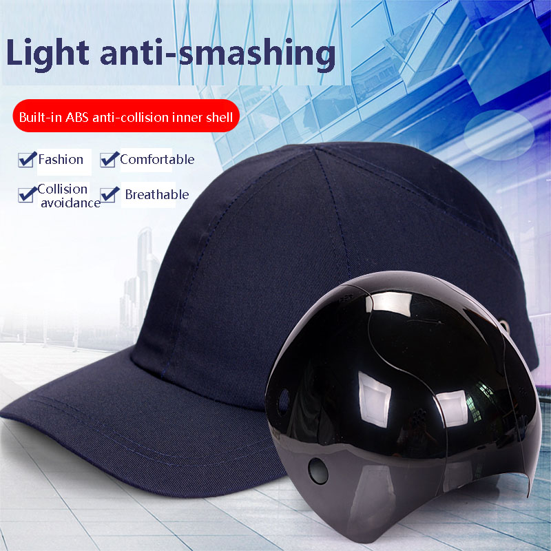 Breathable Helmet Light Anti-collision Protection Baseball Cap Liner ABS Shell Shell Workshop Anti-smashing Riding Safety Helmet