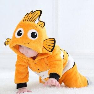 Image 3 - Anime Baby Nemo Clownfish Kigurumi piżama pajacyk dla noworodka Animal Onesie przebranie na karnawał Onepieces strój kombinezon zimowy