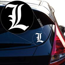 Death Note L Anime Decal Sticker for Car Window, Laptop and