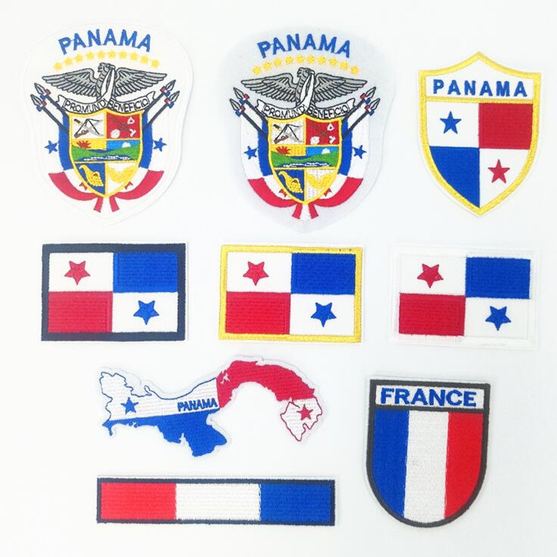 The French Flag Stars Patch Embroidered Badge Repair Patches For Clothing Iron On Close Shoes Bags Badges Embroidery
