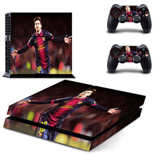 Football Star Lionel Messi PS4 Skin Sticker Decal For Sony PlayStation 4 Console and 2 Controlles PS4 Skin Sticker Vinyl(China)