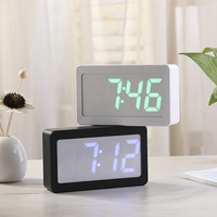USB Alarm Clock Digital LED Display RGB Color Changing 3 Level Brightness Sound Control Alarm Clock Table Desktop Alarm Clock
