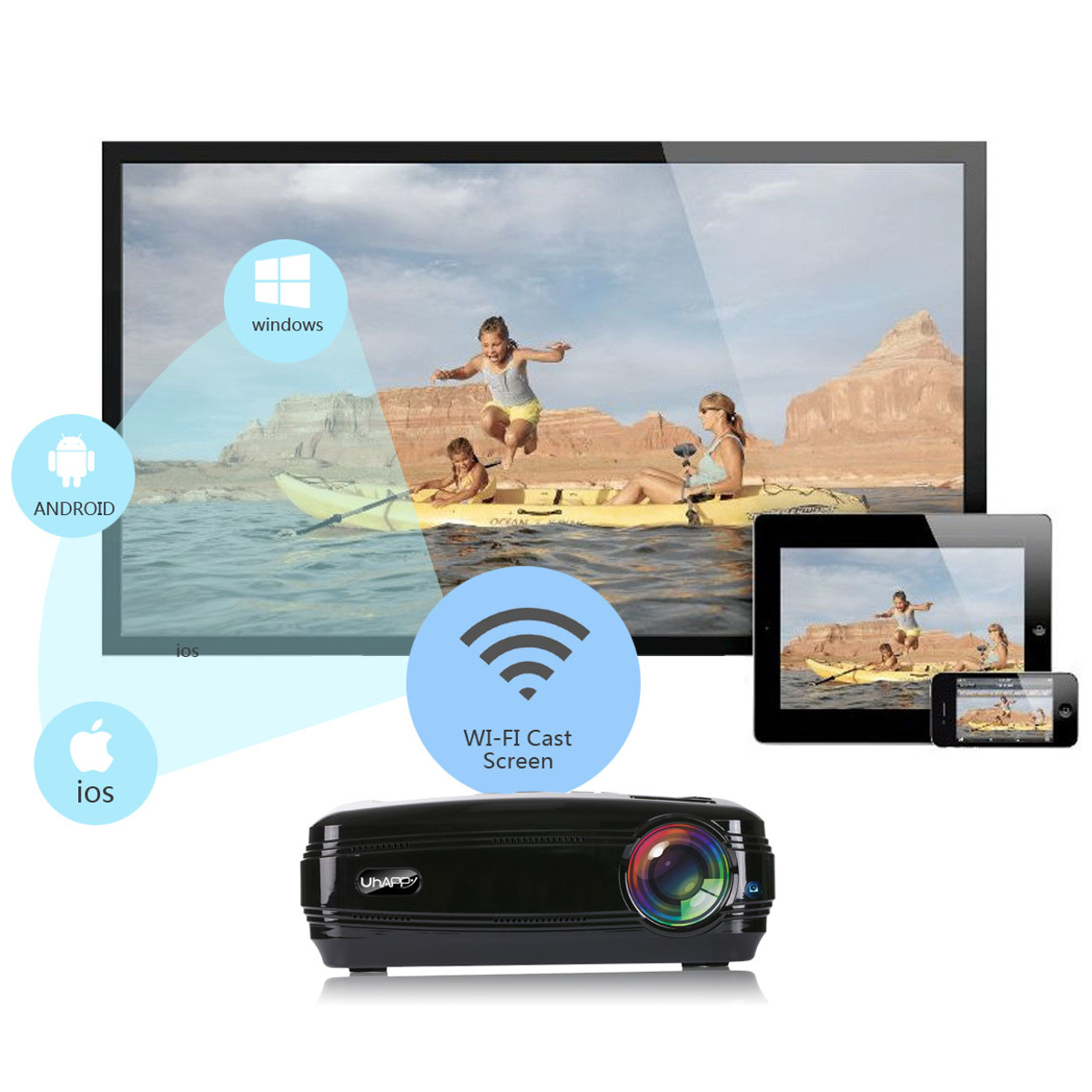 Mini Home Cinema Theater 1080p Hd Multimedia Usb Led: 10000 Lumens 1080P Mini Projector 3D LED Home Cinema