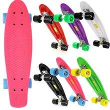 Unisex Complete Deck Skateboard Mini Plastic Skate Board Professional Small Muticolor to choose Free Shipping US02