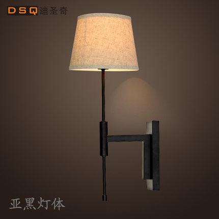 ФОТО North American modern minimalist fashion bedroom bedside lamp wall lamp linen aisle project wall light