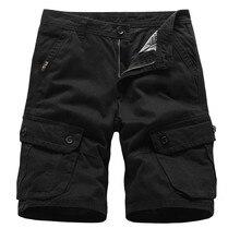 Fashsiualy bermuda masculina 2019 Men's Pocket Short Pants C