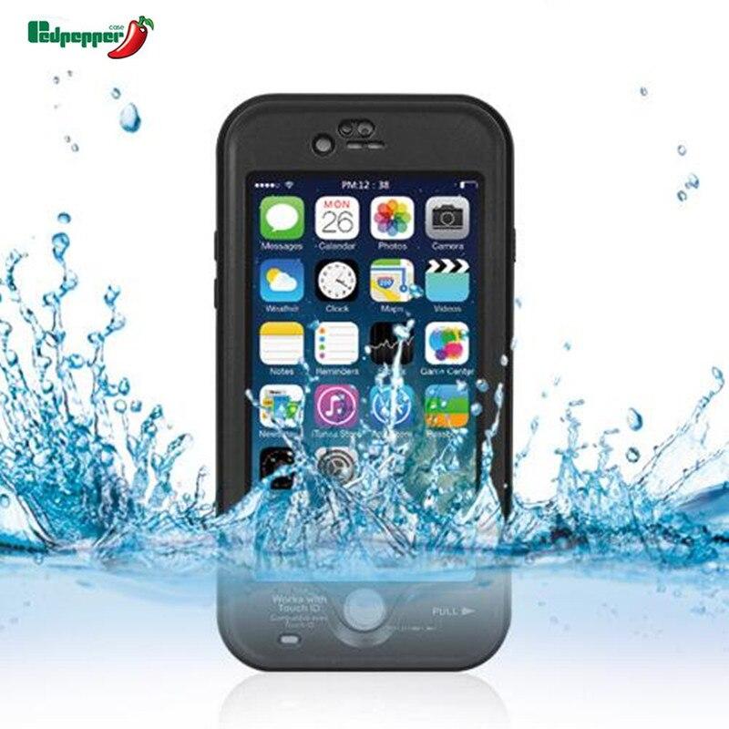 imágenes para Original sellado a prueba de agua a prueba de golpes hermética al polvo submarinismo touch id case para iphone 6 6 s plus natación bolsa de cáscara de la cubierta