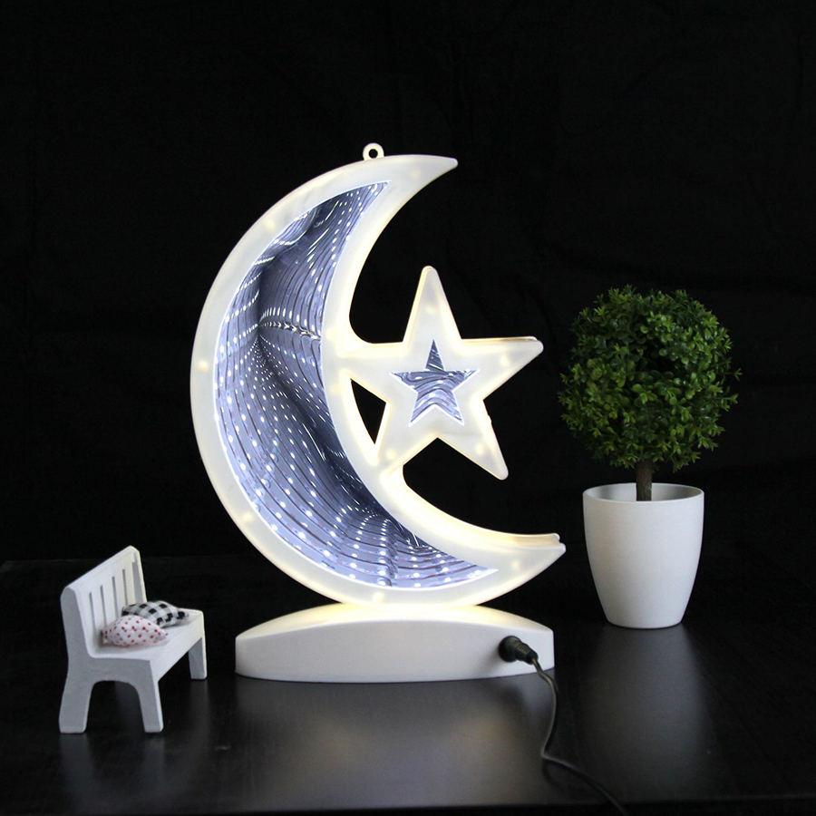 Modest Thrisdar Led3d Battery Usb Dual Dual Mirror Tunnel Light With Base Time Dreamy Romantic Background Night Light Led Lamps Led Night Lights