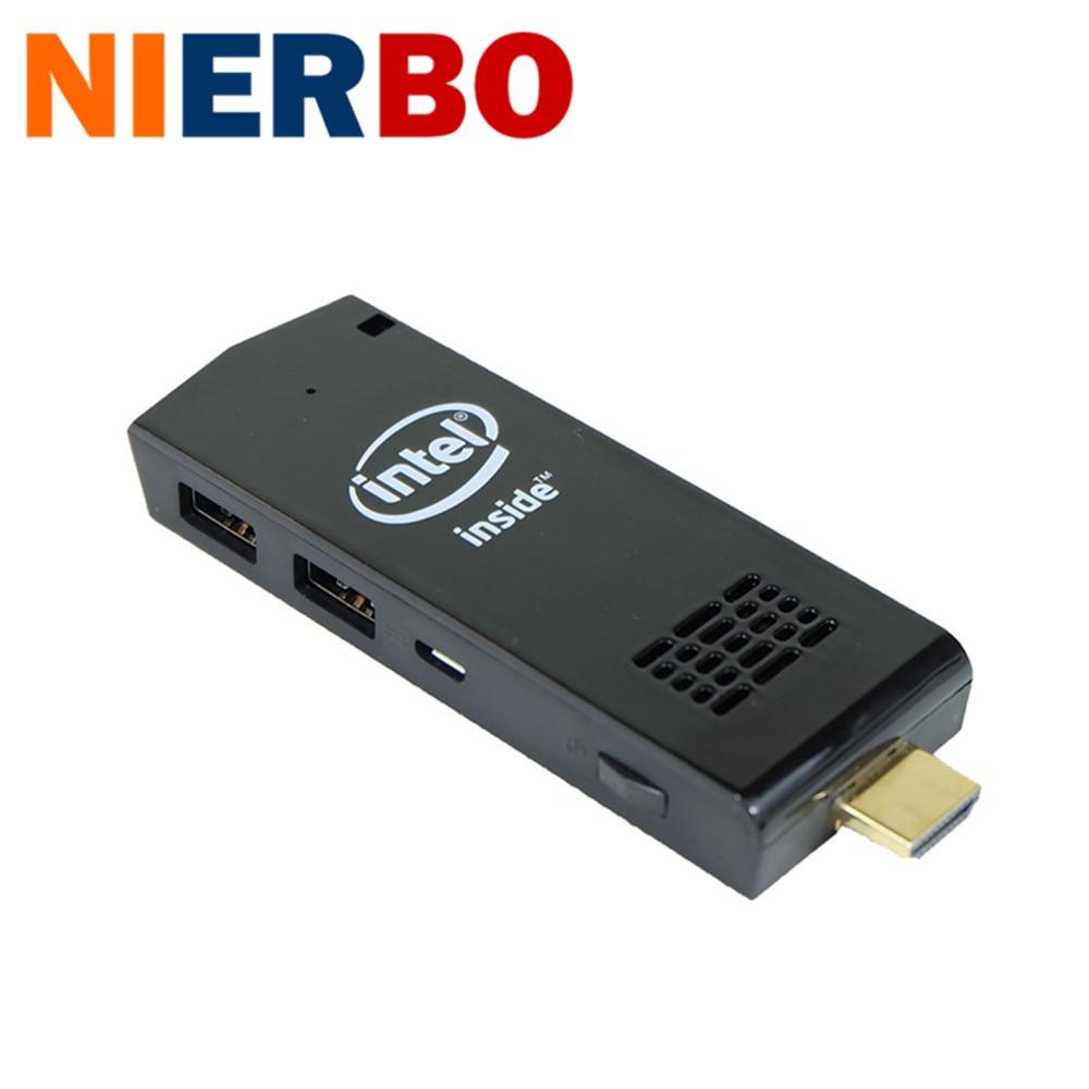 Ventanas Del Palillo 2 GB 32 GB de la Ayuda 1080 P Wifi Bluetooth MINI PC ordena
