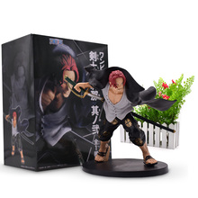 купить 15 cm Hot Toy Anime One Piece Pirates Shanks Figure PVC Action Figure Collectible Model Christmas Gift Baby Toys For Children дешево