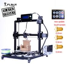 Flsun 3d-drucker I3 Dual extruderKits auto-nivellierung Aluminium Rahmen Große 3D Druck Größe Beheizte Bett Zwei Rolls Filament