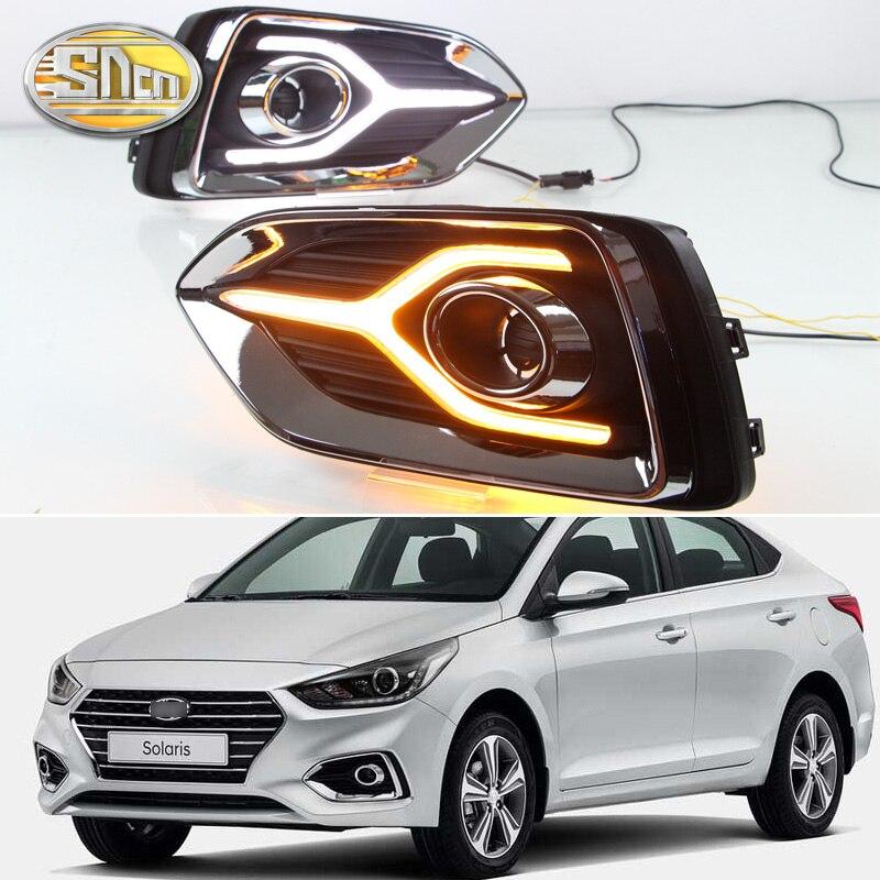 Sncn Led Daytime Running Light For Hyundai Kona 2018 2019: 2PCS LED Daytime Running Light For Hyundai Accent Solaris