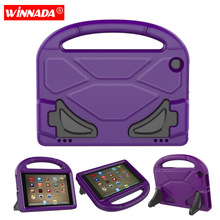 For Amazon Kindle Fire HD 8 2017 Case Football Kids Tablet Shell shockproof EVA Hand-held Stand Cover for Kindle Fire HD8 2016 аккумулятор для amazon kindle fire 4400mah cameronsino