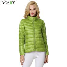 OCARY Woman Winter Coats and Jackets Girls White Duck Down Thick Jackets Warm Black Coat