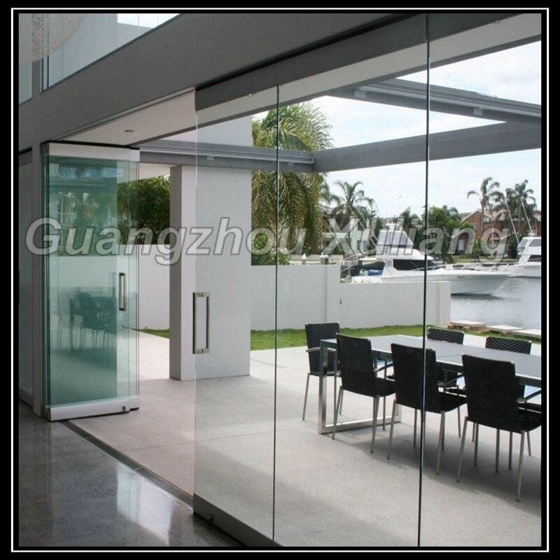 Sin marco plegable puerta corrediza de vidrio en Puertas de Mejoras ...