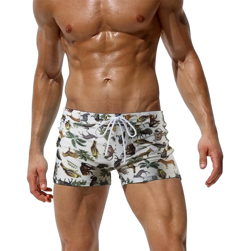 New Summer Casual Swimwear Beach   Board     Shorts   Men's Boardshorts Heart Animal Dot Print Beachwear Male Man Bathing Spa Trunks