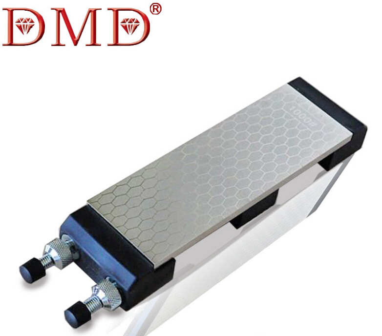 DMD Double Side 400&1000# Fine Grinding Whitestone Diamond Knife Sharpener Diamond Knife Grinder With The Base