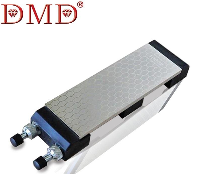 DMD Double Side 400&1000# Fine Grinding Whitestone Diamond Knife Sharpener Diamond Knife Grinder With The Base