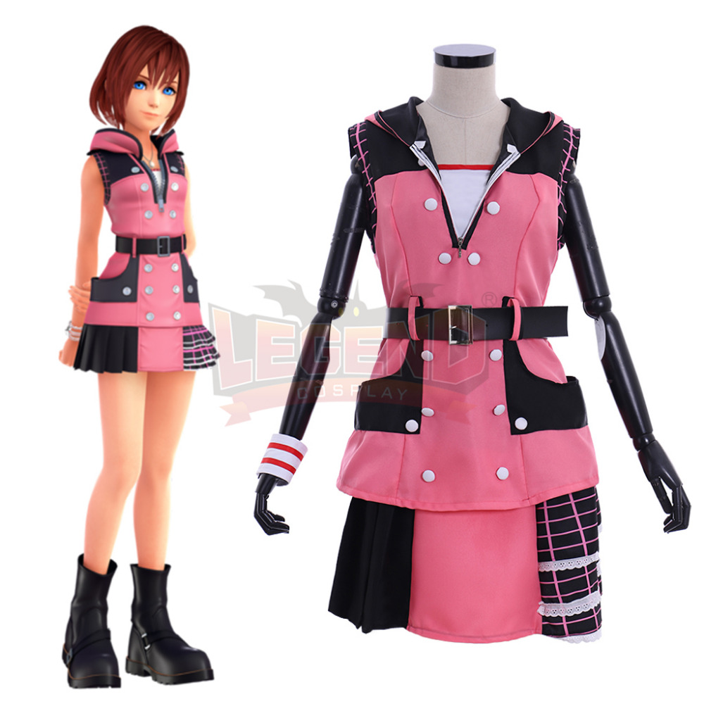 Cosplaylegend Game Kingdom Hearts 3 Kairi Cosplay costume adult costume all size custom made girl costume