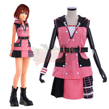 купить Cosplaylegend Game Kingdom Hearts 3 Kairi Cosplay costume adult costume all size custom made girl costume pink dress по цене 4949.97 рублей