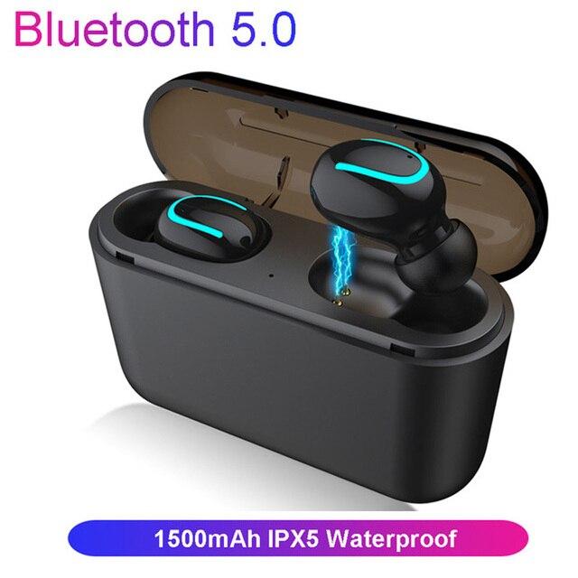 5.0 słuchawki Bluetooth Q32 tws słuchawki douszne słuchawki Hifi Stereo wodoodporne słuchawki douszne IPX5 bezprzewodowe słuchawki na telefon