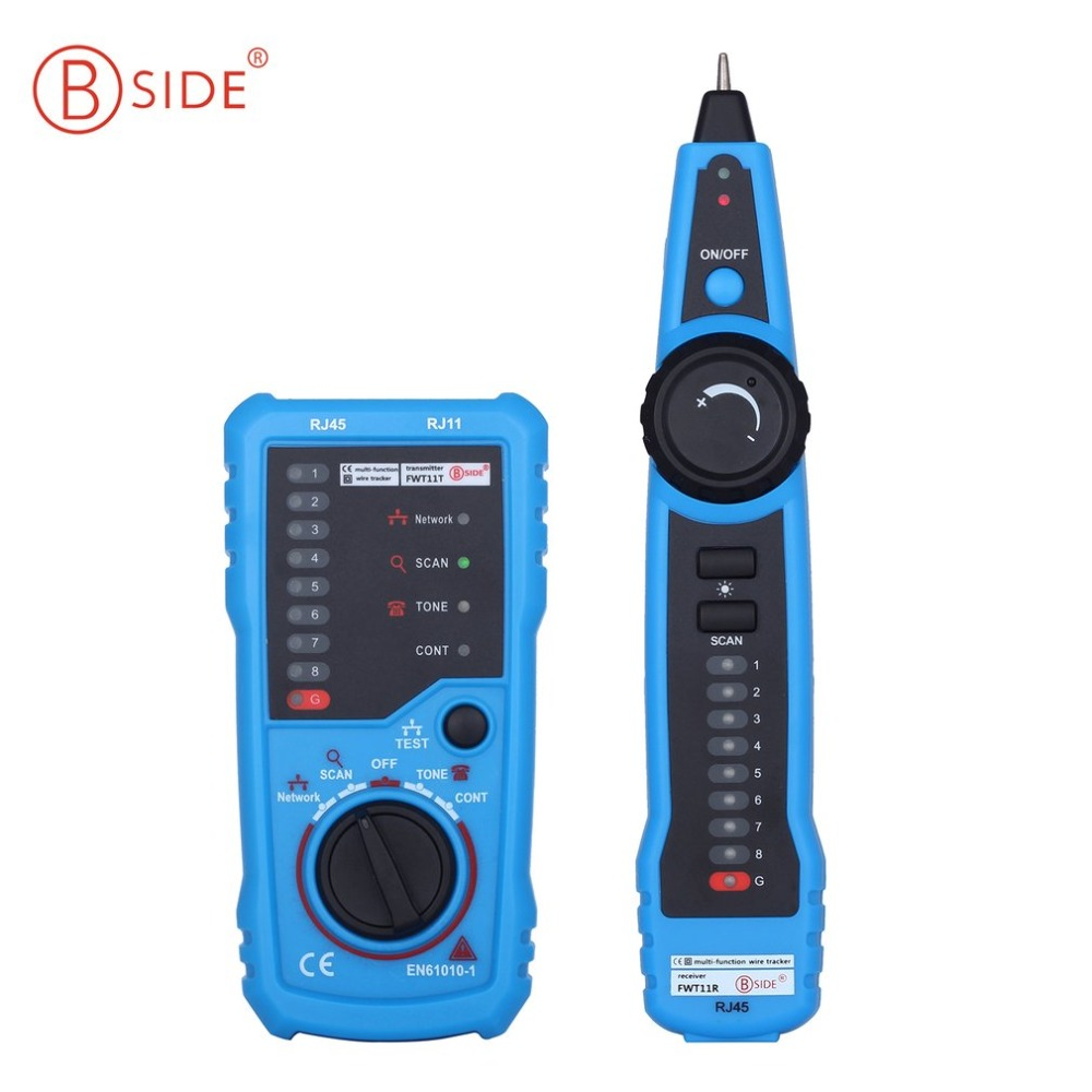 Bside RJ45 Tester Anti-Interference LAN Tester Telephone Wire Network Tracker  FWT11 Cable Tester Detector Line Finder