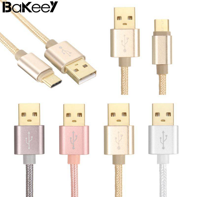 Hot sale Bakeey 1M 2A Braided Data USB Cable for Samsung Xiaomi Huawei