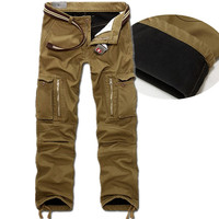 Winter Warm Fashion Brand Men Mens Sweat Casual Man Joggers Camouflage Outdoor Camo Militar Bottoms Army