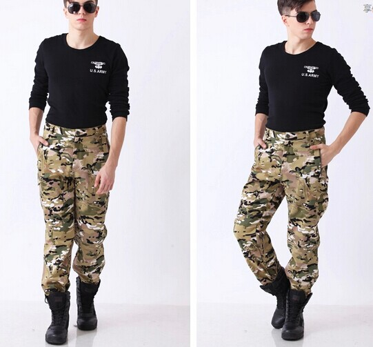 Tactical Military Pants Outdoor TAD Shark Skin Soft Shell Pants Fleece Trousers Thick Climbing CP S-XXXL