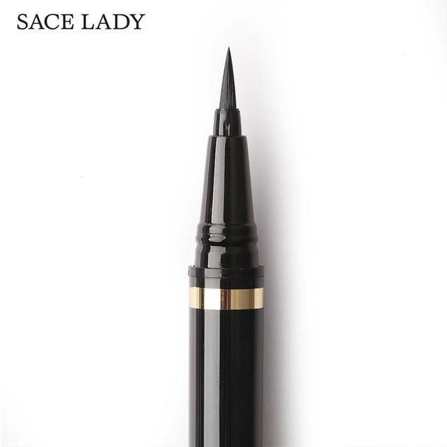 SACE LADY Liquid Eyeliner Waterproof Makeup Black Eye Liner Pencil Long Lasting Make Up Smudge-proof Pen Natural Brand Cosmetic 2