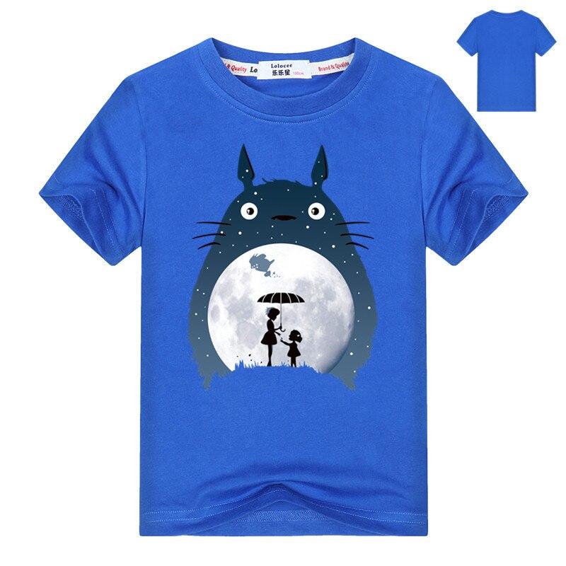 Kids Cartoon Totoro Print Cotton T shirt For Girl/Boy Anime T-Shirts for Children Baby Girls  Kawaii Clothing 3