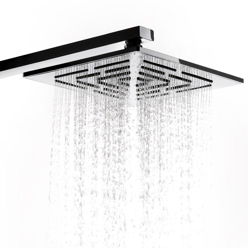 10 Inch (25 CM) Stainless Steel Square Rain Shower Head 400 Holes Water Out  Rainfall Showerhead. (Not Including Shower Arm) 12 inch shower head with arm 300 300 stainless steel head shower with ceiling shower arm top water saving rain shower