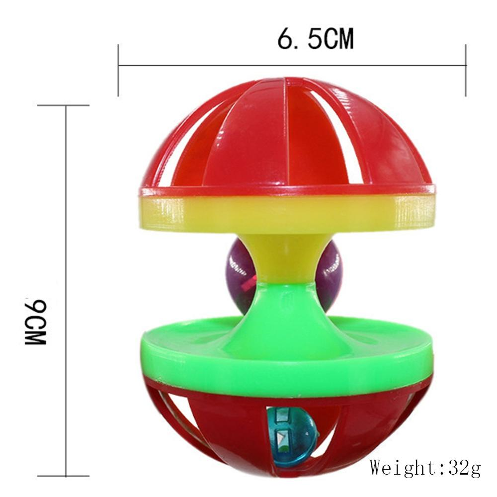 New Cat Toy Rolling Bell Plastic Toy Interactive Training Rotating Ball Combination Pet Toy in Cat Toys from Home Garden