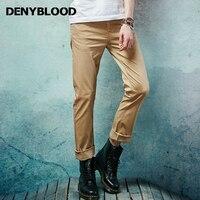 Denyblood Jeans Hommes Mince Droite Classique Casual Pantalon 2017 Nouvelle Mode Stretch Coton Chino Pantalon Marine Kaki Pantalon 151101
