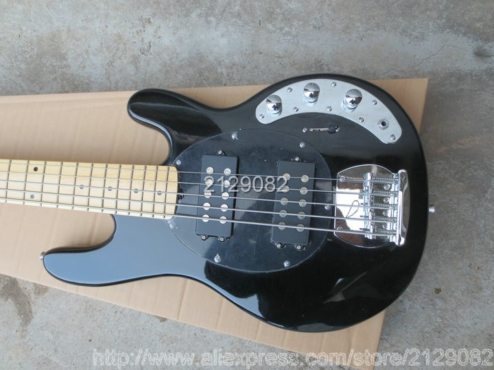 new arrival ernie ball music man sting ray guitar black 5 string bass guitar electric best. Black Bedroom Furniture Sets. Home Design Ideas