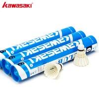Kawasaki Brand Durable Badminton Shuttlecock Duck Feather Ball Speed 76 77 Professional Badminton Training Shuttlecocks Club 6