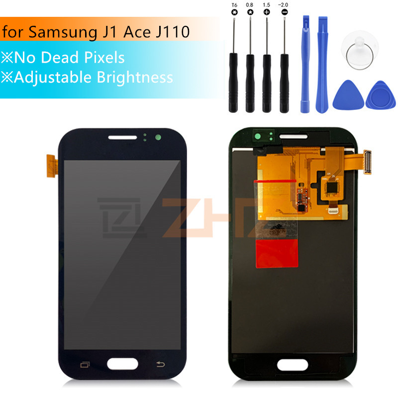 Adjust Brightness LCD For <font><b>Samsung</b></font> Galaxy <font><b>J1</b></font> <font><b>Ace</b></font> J110 SM-J110F J110H LCD <font><b>Display</b></font> Touch Screen Digitizer Assembly Replacement image