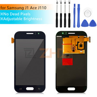 Adjust Brightness LCD For Samsung Galaxy J1 Ace J110 SM J110F J110H LCD Display Touch Screen Digitizer Assembly Replacement