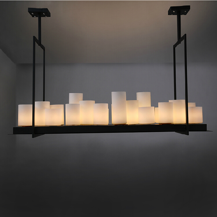 Replica Kevin Reilly Altar Pendant Lamp LED Candle Chandelier Vintage Light Retro Metal Fixture Remote Control Suspension Light