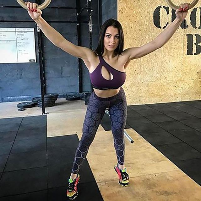 Patterned High Waist Sport Leggings for Women