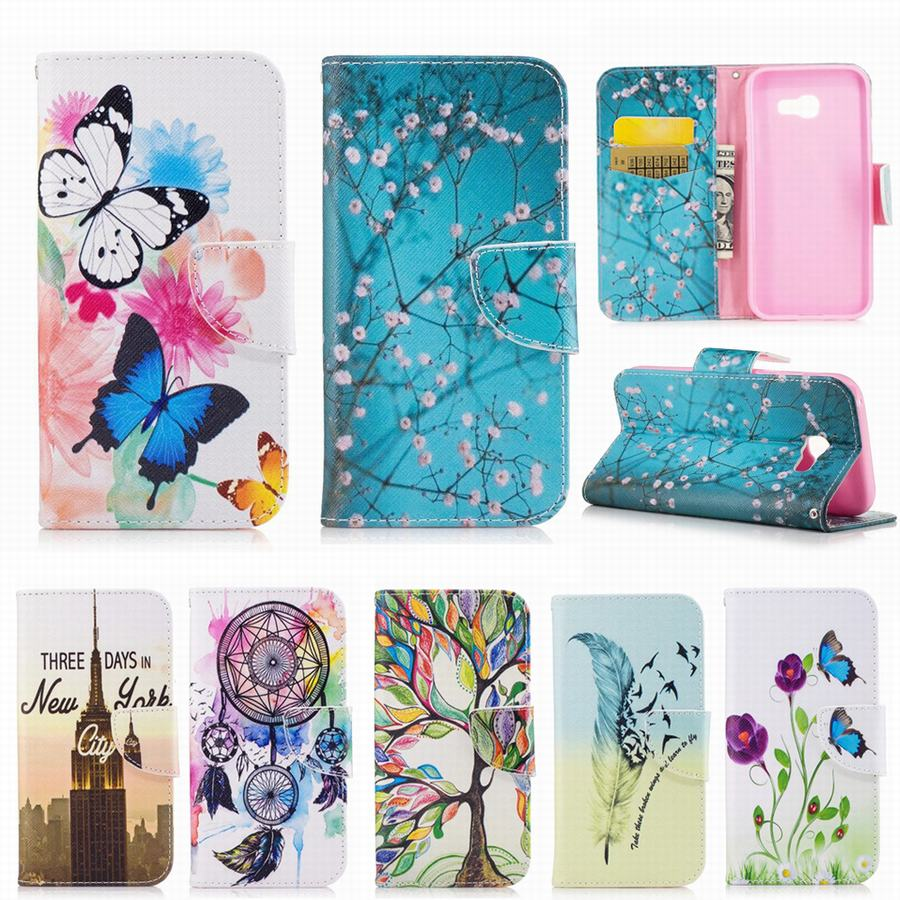 buy for coque samsung galaxy a5 2017 case leather wallet silicone cover samsung. Black Bedroom Furniture Sets. Home Design Ideas